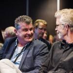 Mannen lachen tijdens Nationaal Congres Veilig Voedsel 2019